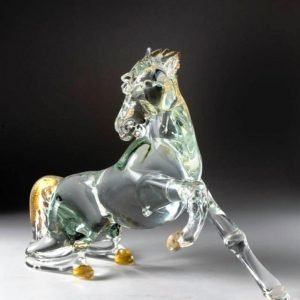 glass horse sculpture
