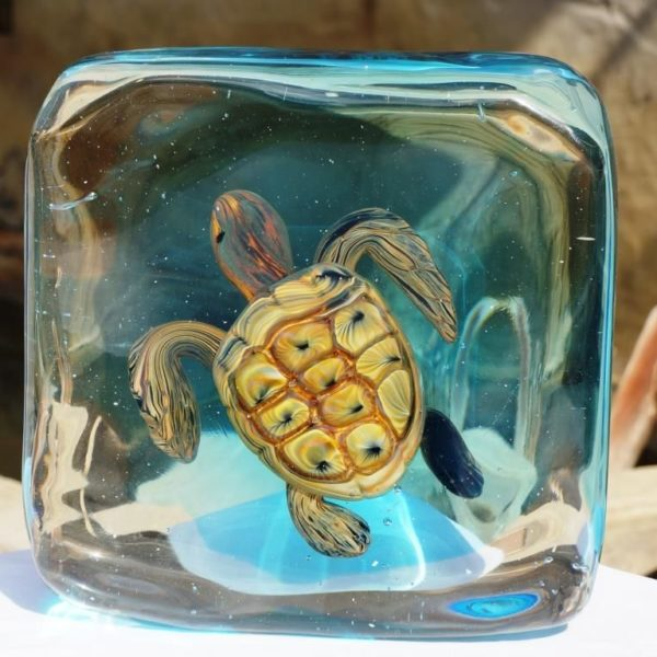 Murano Glass turtle aquarium