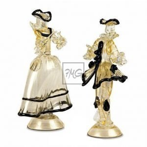 Gold venetian figurines