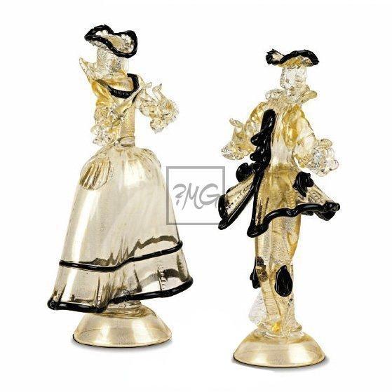 Gold venetian figurines