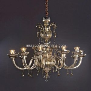 Fume Royal Chandelier with Pendants