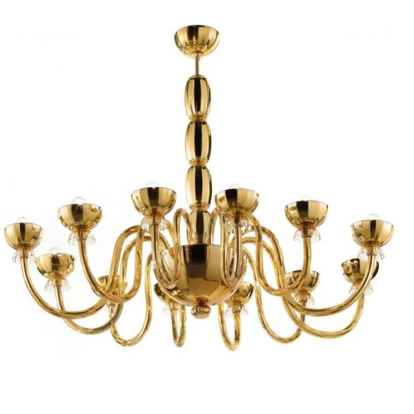 Modern Gold Chandelier Cenedese