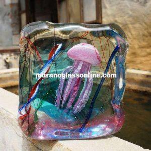 Pink Jellyfish Murano