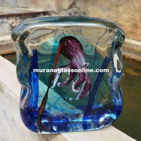 Mediterranean Octopus Glass