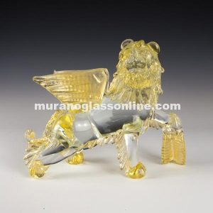 Venetian Lion Sculpture Murano Glass